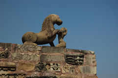 Statue of Lion at Khajuraho,India Royalty Free Stock Image