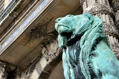 Statue lion in Louvre museum Royalty Free Stock Photos