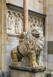 Statue of lion, Modena, Italy Royalty Free Stock Photos