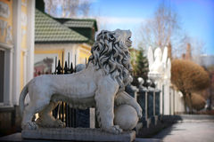 Statue of lion Stock Images