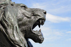 Statue of Lion of venice. A bronze statue of san marco lion of venice Stock Image