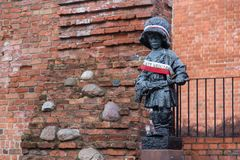 Statue of the Little Insurgent in Warsaw. Poland, a monument for commemorating child soldiers who fought and died during the Warsaw Uprising of 1944 Royalty Free Stock Photo