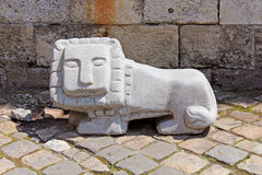 Statue of little lion in Lviv Stock Image