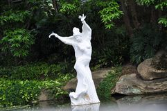 The Statue of The Little Mermaid.  stock images