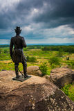 Statue on Little Round Top, in Gettysburg, Pennsylvania. Stock Photography