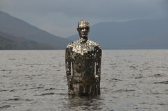 Statue in Loch Earn Royalty Free Stock Image