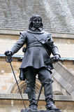 Statue in London. Oliver Cromwell statue near the Westminster Abbey Royalty Free Stock Images