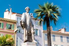 Statue Lord Brougham in Cannes Royalty Free Stock Photos