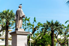 Statue Lord Brougham in Cannes Stock Photography
