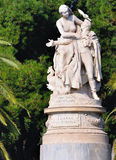 Statue of Lord Byron in Athens. royalty free stock image