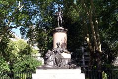 Statue of Lord Clyde and Britannia in Waterloo Place, London, England Royalty Free Stock Photography