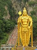 Statue of Lord Murugan at Batu Caves Stock Image