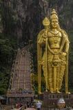 Statue of Lord Murugan, outside the Batu caves, Kuala Lumpur. Malaysia royalty free stock images