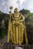 Statue of Lord Murugan, outside the Batu caves, Kuala Lumpur. Malaysia royalty free stock image