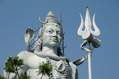Statue of lord shiva. 30.5 meter statue of lord shiva at haridwar india Royalty Free Stock Photo