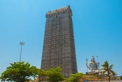Statue of Lord Shiva in Murudeshwar. The Raja Gopuram Tower. Temple in Karnataka, India Stock Photography