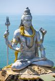 Statue of Lord Shiva in Murudeshwar Temple Royalty Free Stock Photography