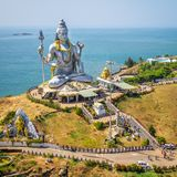 Statue of Lord Shiva in Murudeshwar Temple Royalty Free Stock Photo