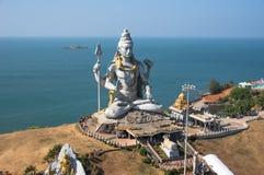 Statue of Lord Shiva in Murudeshwar Temple in Karnataka stock images