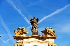 Statue at loreta. Sculptures adorn the prague loreta Stock Image