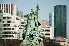 Statue by  Louis-Ernest Barrias. - La defense quarter Stock Image