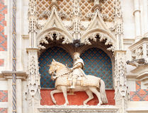 Statue of louis xii at blois castle Royalty Free Stock Image