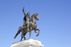 Statue of Louis XIV Stock Images