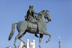 Statue of Louis XIV, Lyon Stock Photos