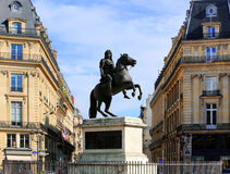 Statue of Louis XIV in Paris, France Stock Photos