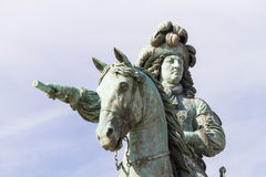 Statue of Louis XIV  in Versailles France. 1638-1715, king of France (1643-1715); son of Louis XIII and Anne of Austria. Effective ruler from 1661, he Royalty Free Stock Photos
