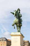 Statue of Louis XIV  in Versailles France. 1638-1715, king of France (1643-1715); son of Louis XIII and Anne of Austria. Effective ruler from 1661, he Stock Image