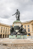 Statue Louis XV at Place Royale in Reims Stock Photos