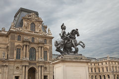 Statue of Louis XXIV stock photos
