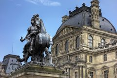 Statue at Louvre Musee, Paris Royalty Free Stock Photo