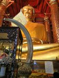 Statue of Luang Pho To, Panan Choeng Temple, Ayutthaya Province, Thailand stock photography