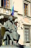 Statue of Luigi Boccherini in Lucca stock images