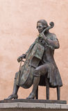 Statue of Luigi Boccherini in medieval city of Lucca, Tuscany Royalty Free Stock Image