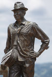 Statue of Luis Eduardo Villegas, Guatape, Colombia Stock Photos