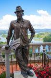 Statue of Luis Eduardo Villegas, Guatape, Colombia Stock Photography