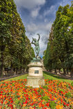 Statue is Luxemburg Palace Garden in Paris France. The Luxemburg palace garden in Paris Royalty Free Stock Images