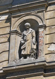 Statue on Lviv Polytechnic University building Royalty Free Stock Image
