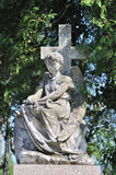 Statue in Lychakiv Cemetery in Lviv, Ukraine. Old statue in Lychakiv Cemetery in Lviv, Ukraine stock photo