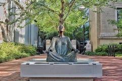 Statue méditante Photo libre de droits