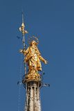 Statue of the Madonna on top of the Milan Cathedral Royalty Free Stock Photos