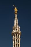 Statue of the Madonna on top of the Milan Cathedral Stock Image
