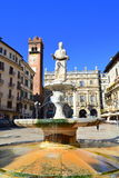 Statue of Madonna Verona fountain Royalty Free Stock Photography