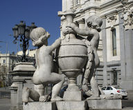 Statue at Madrid Justicia Royalty Free Stock Images