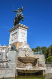 Statue at Madrid Royal Palace Royalty Free Stock Images
