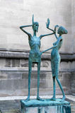 Statue, Magdalen college, Oxford. Royalty Free Stock Photo