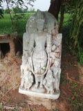 The statue of Mahakali temple, Raviya royalty free stock image
